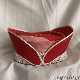 Italy Red Aso Oke Hat